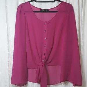 Forever 21 hot pink blouse